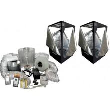KIT-XL  2 Armarios Completos 1'2 x 1'2 x 2m