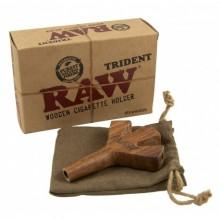Tridente de madera raw 3 boquillas
