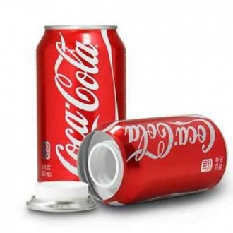 Lata de Coca-Cola Ocultación