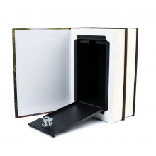 Caja libro ocultacion doble m papel