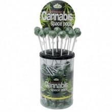 Piruleta Space Pops Cannabis 18gr (Bote 100uds)